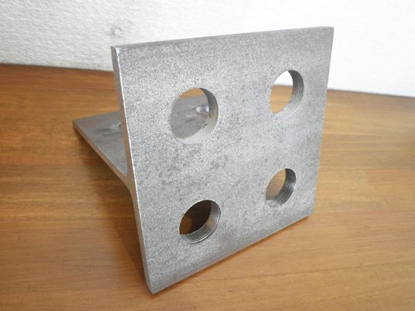T型カットピース メッキ孔(Tカットピース・T型ピース) ドリルカット